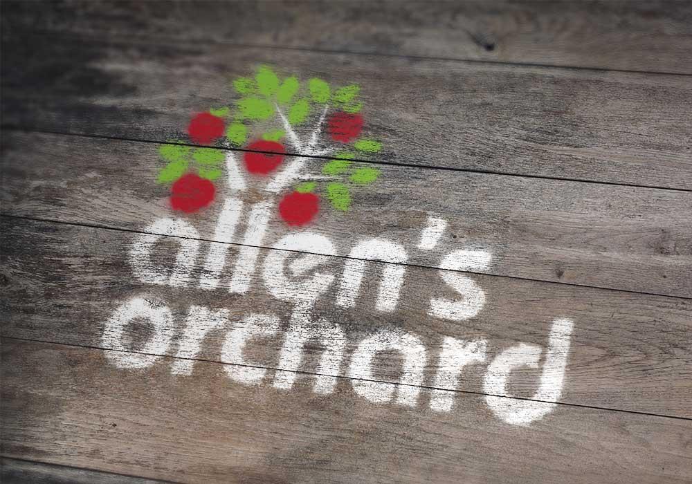 Allen's Orchard logo design