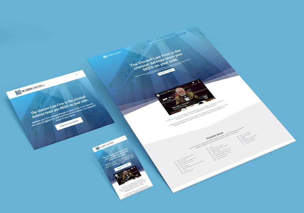 The Vincent Law Firm website design